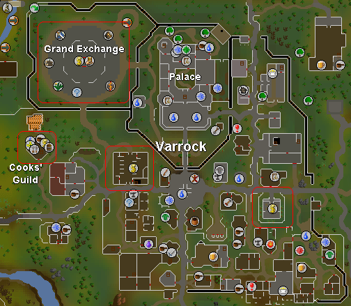 Places in Varrock where you can obtain a PIN