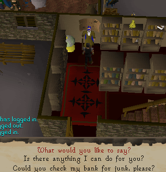 The Wise Old Man - bring quest items to him!