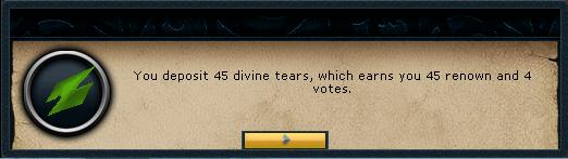 Depositing tears