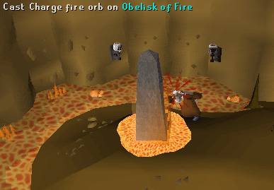 Fire obelisk