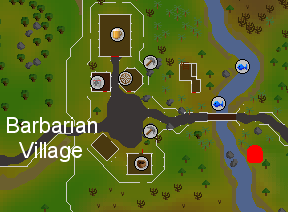 Barbarian Village  canoe station