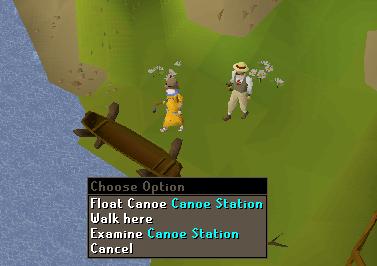 Float Canoe Canoe station