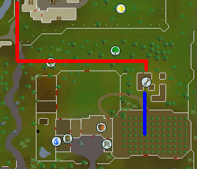 Map from Falador to farming patch