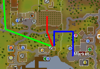 Map to Draynor Spirit Tree patch