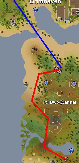 Map to Tai Bwo Wannai Calquat Tree patch