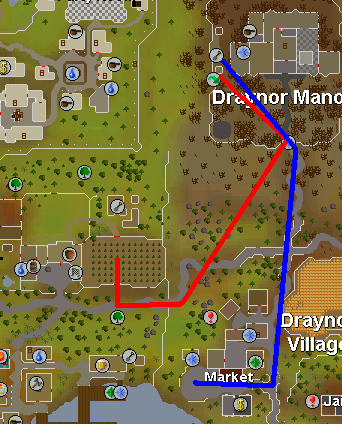 Map to Draynor Belladonna patch