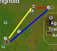 Map from Gnome Stronghold fruit tree patch to tree patch