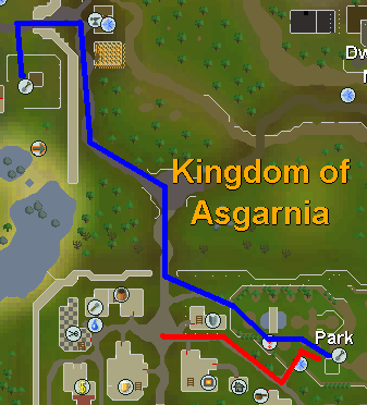 Map from Falador to tree patch
