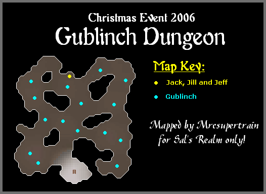 A map of the gublinch dungeon