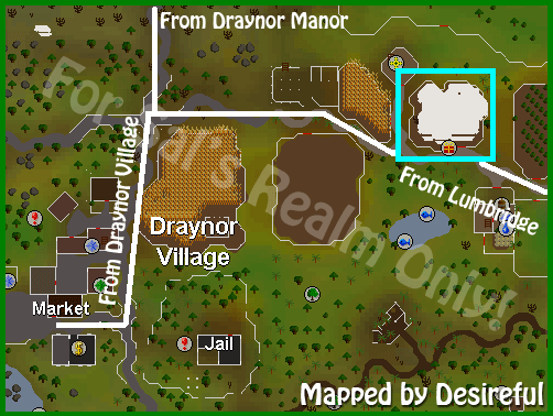 Location of the Head Imp near lumbridge