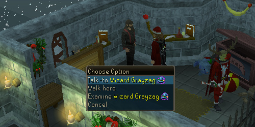 Talk to Wizard Grayzag
