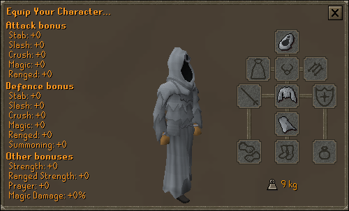 Ghost Costume equipment stats