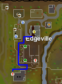 Map from the dungeon to the edgeville bank