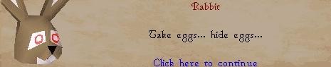 Take eggs... hide eggs...