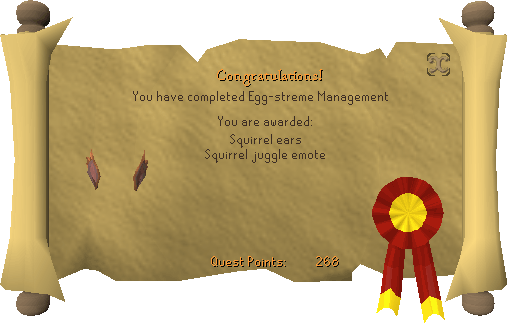 Congratulations! you have completed Egg-streme Management.
