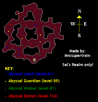 Map of the abyssal space