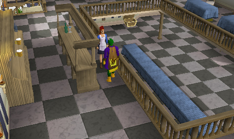 The second floor of the Falador Party Room