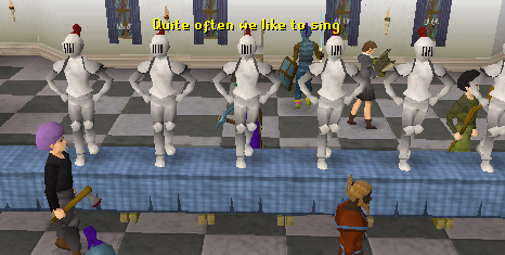 The dancing Falador Knights
