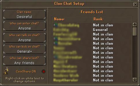 Friends Chat Setup