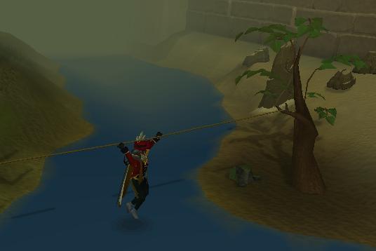 Using a grappling hook