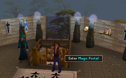 A portal in the mage guild