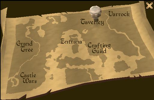 Hot air balloon map