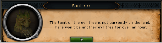 Spirit Tree: The taint of the evil tree is not currently on the land.