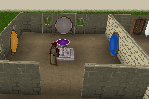 A portal chamber in a player owned house