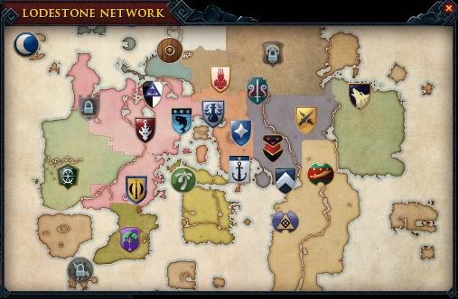 Map of the Lodestone Network