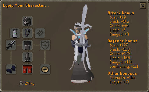 Suggested Void melee equipment