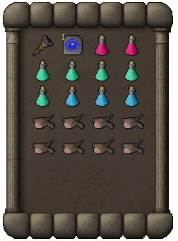 Suggested inventory for the ranging method