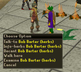 Bob Barter - in charge of herb prices