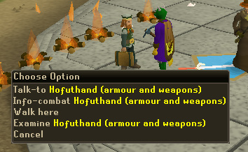 Hofuthand - in charge of armor and weapon prices