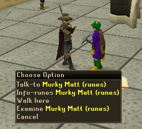 Murkey Matt - in charge of rune prices