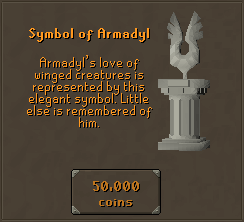 Symbol of Armadyl - Armadyl's love of winged creatures is represented by this elegant symbol. Little else is remembered of him.