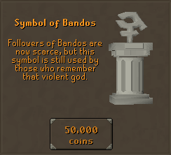 Symbol of Bandos - Followers of Bandos are now scarce, but this symbol is still used by those who remember that violent god.