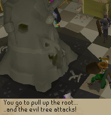 You go to pull up the root...