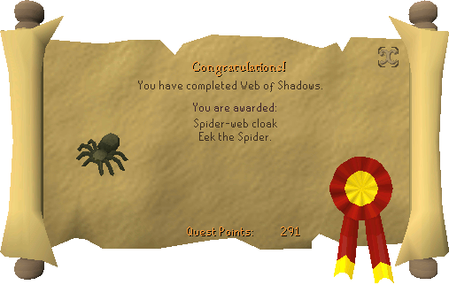 Congratulations, Web of Shadows Halloween 2009 Event complete!