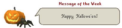 Message of the Week: Happy Hallowe'en
