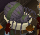 A giant spider in the Reaper's bathtub