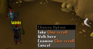 Take clue scroll