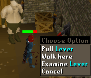 Pull lever