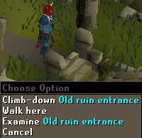 Old ruin entrance