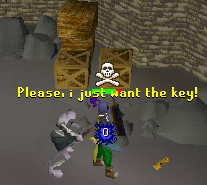 Skeletons are guarding the key