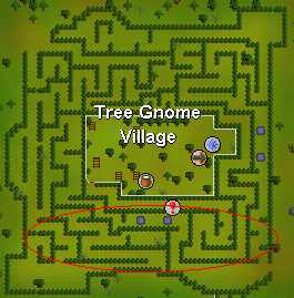 Hill giants in the tree gnome village maze