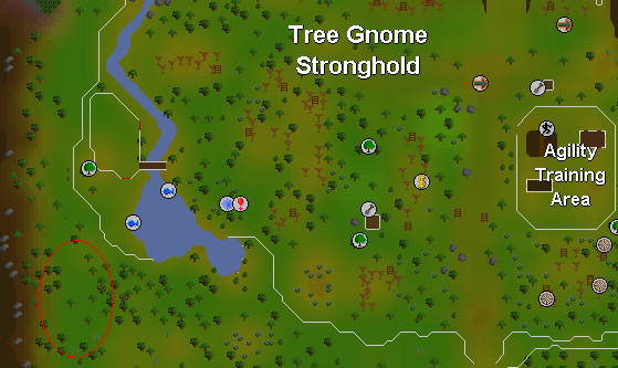 Hill giants located in the tree gnome stronghold