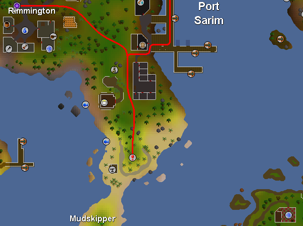 Routes to the ice cavern south of port sarim