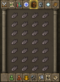 Suggested inventory (combat around level 60)
