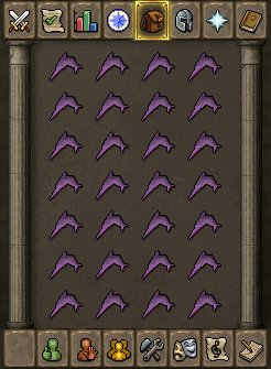 Suggested inventory (combat below level 50)