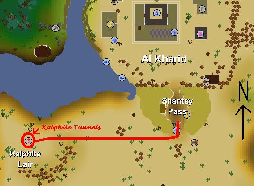 Location of the Kalphite Lair